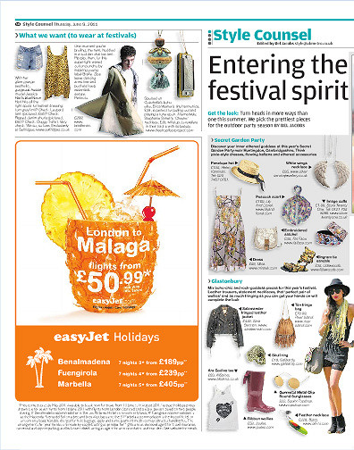 Metro's 'Entering The Festival Spirit' article