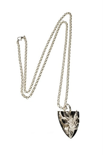 Stag head necklace