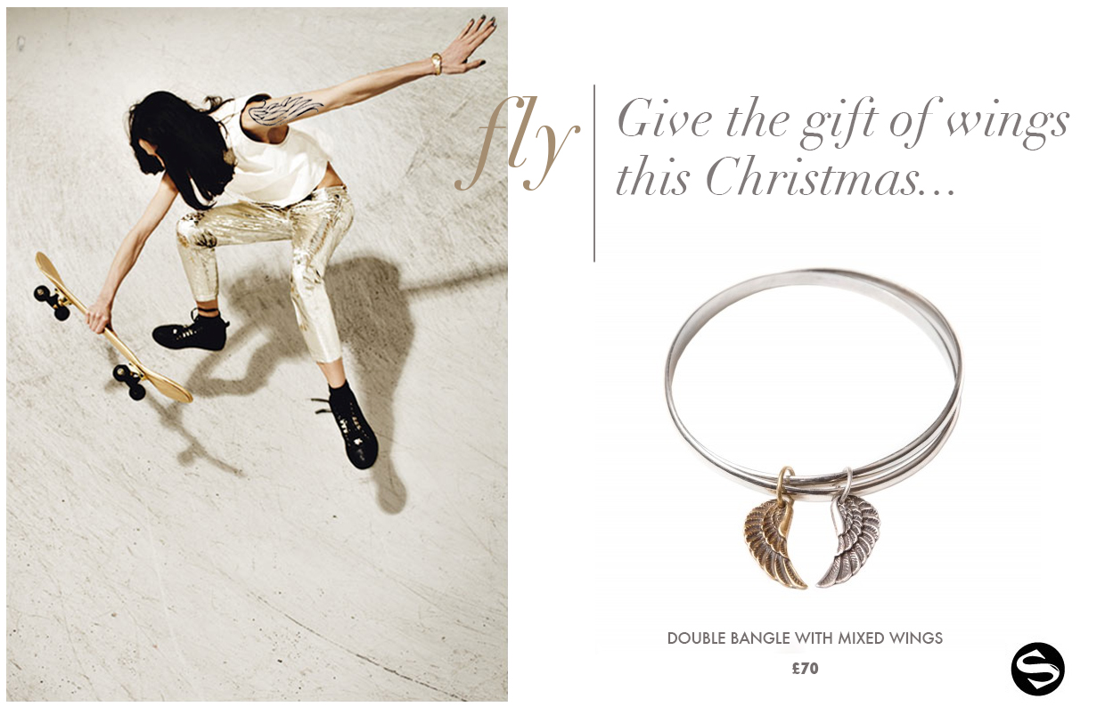 Double Bangle with Mixed Wings