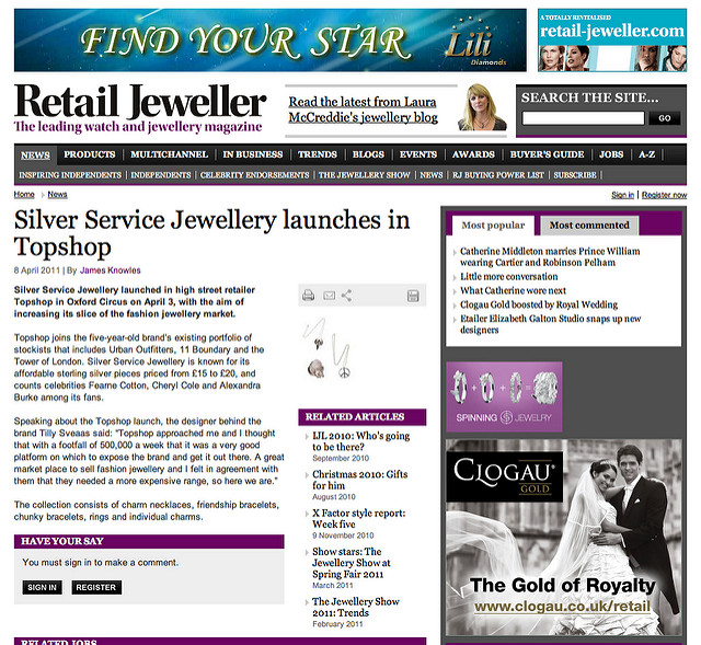 Retail Jeweller article