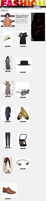 What Would Keira Knightley Wear?