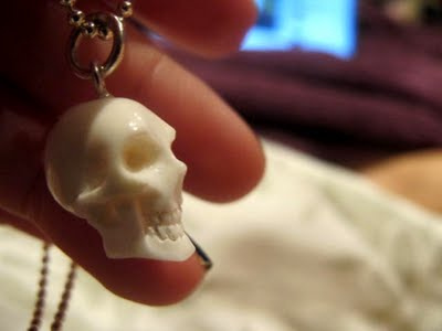 Bone skull necklace