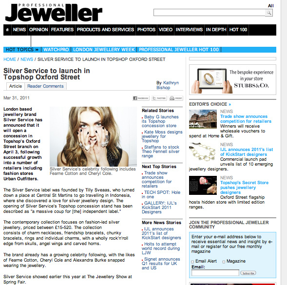 Professional Jeweller article