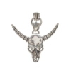 Sterling silver bull head necklace