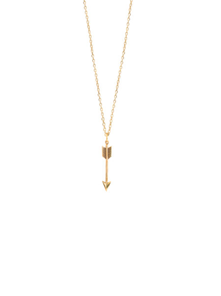 Small Gold Arrow Necklace