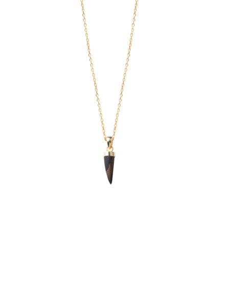 1.5cm Wood Horn Necklace
