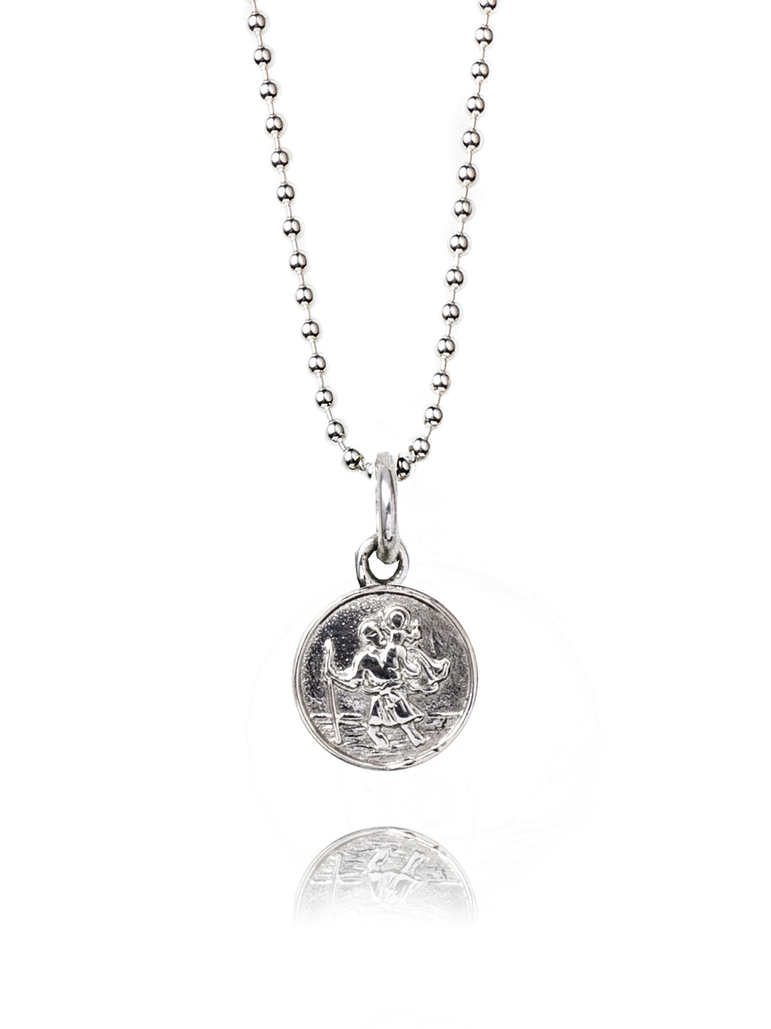 Small Silver St Christopher Necklace