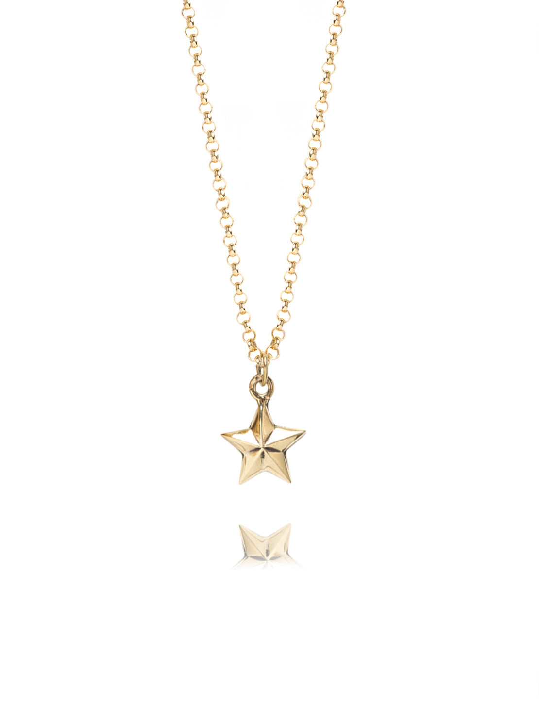 Small Gold Star Necklace