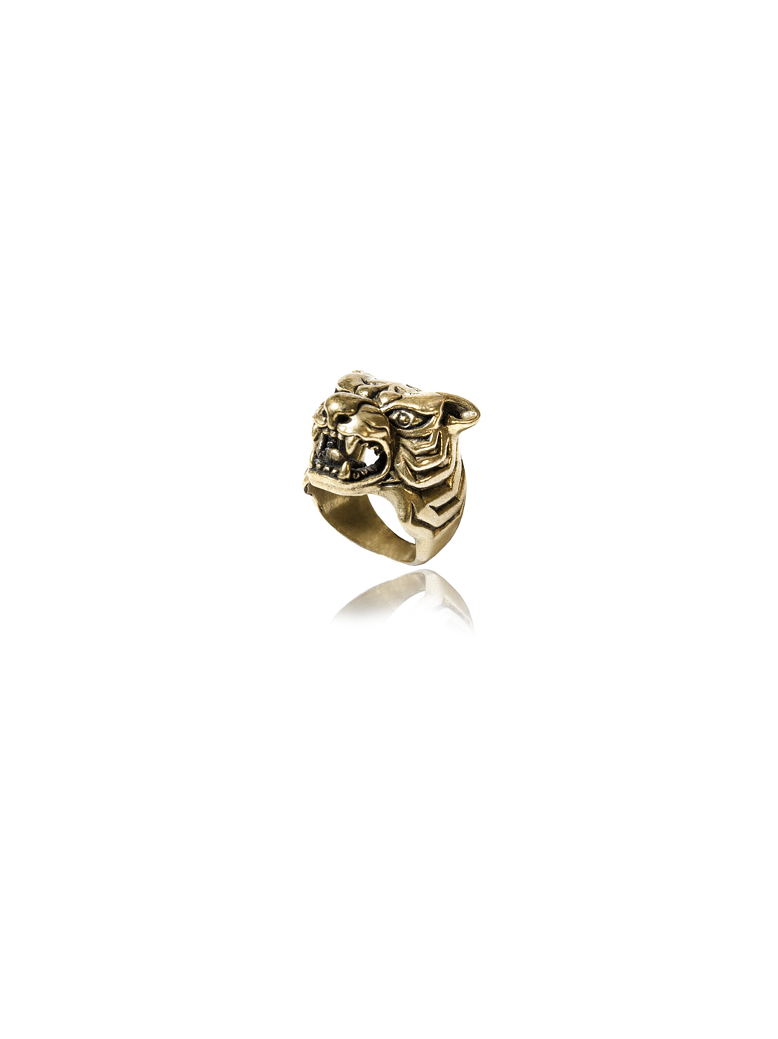Brass Tiger Ring