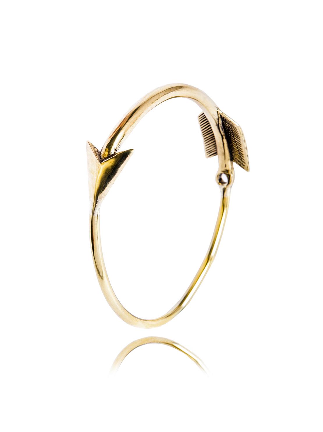 Chunky Brass Arrow Bangle