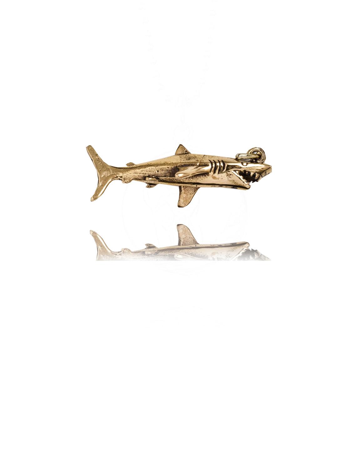 Gold Shark Charm