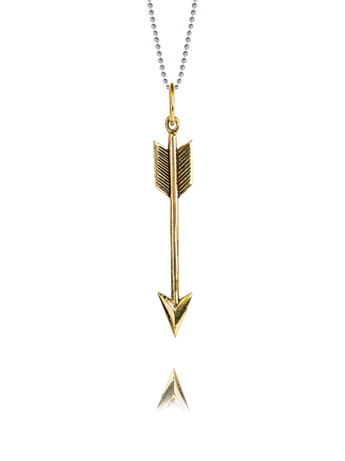 Medium Brass Arrow Necklace