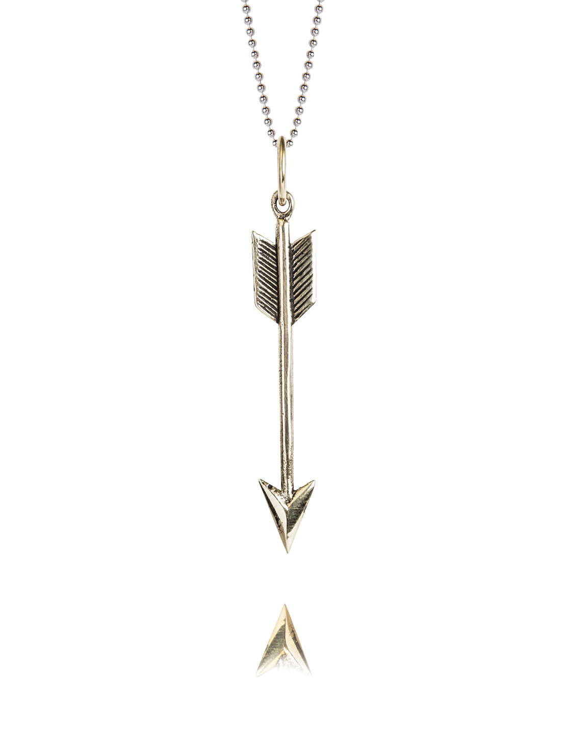 Medium Silver Arrow Necklace On 80cm Chain
