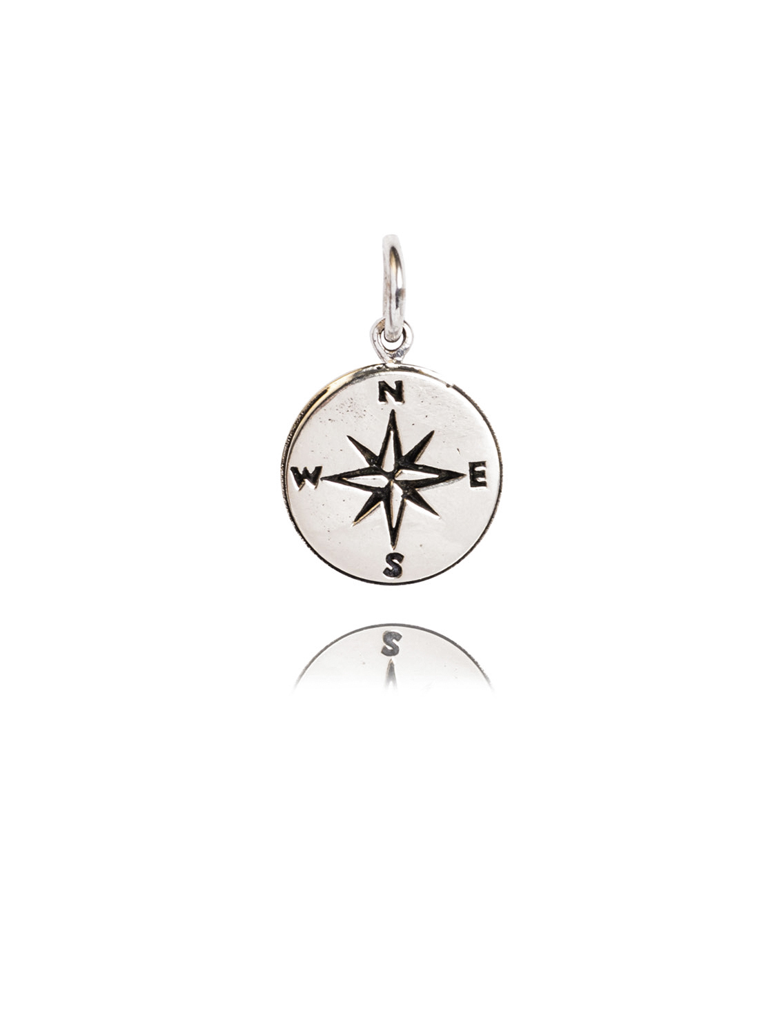 Silver Compass Charm