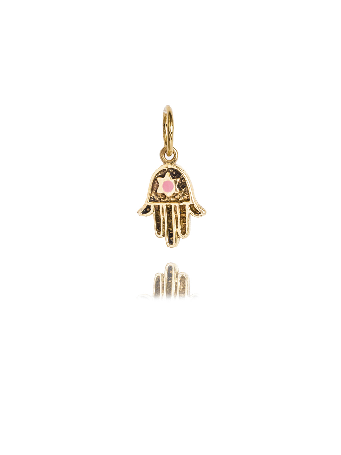 Small Brass Hand Of Fatima Charm