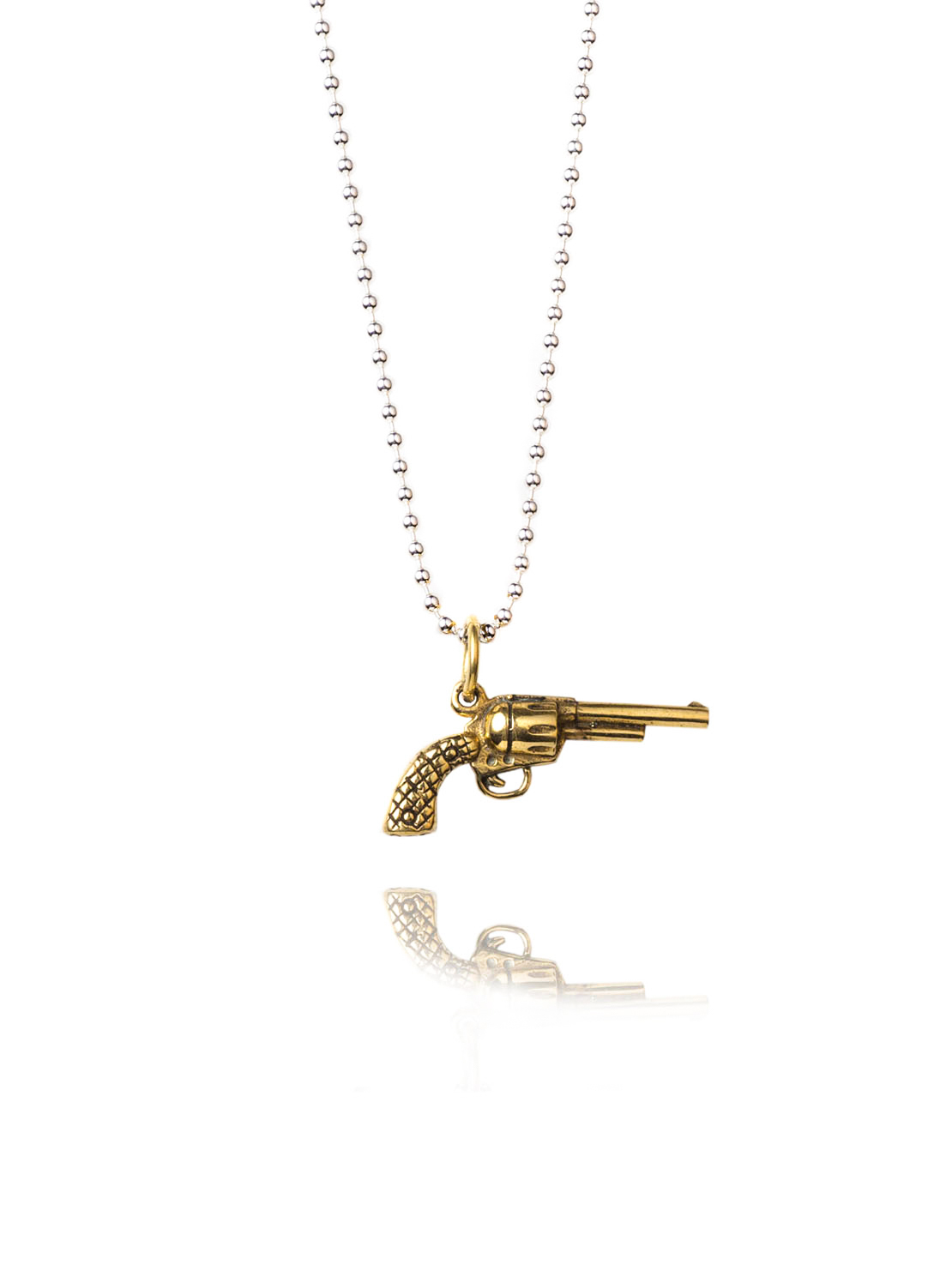 Small Gold Gun Necklace