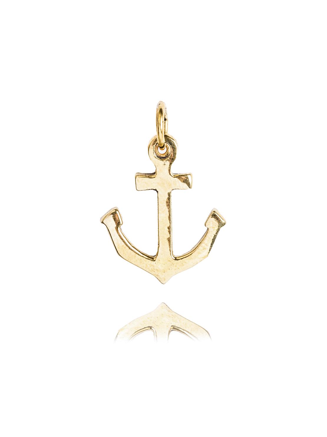 Small Plain Brass Anchor