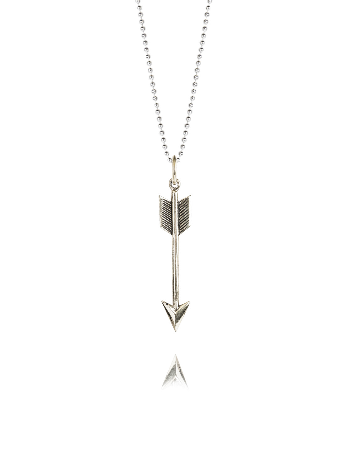 Small Silver Arrow On 80cm Chain