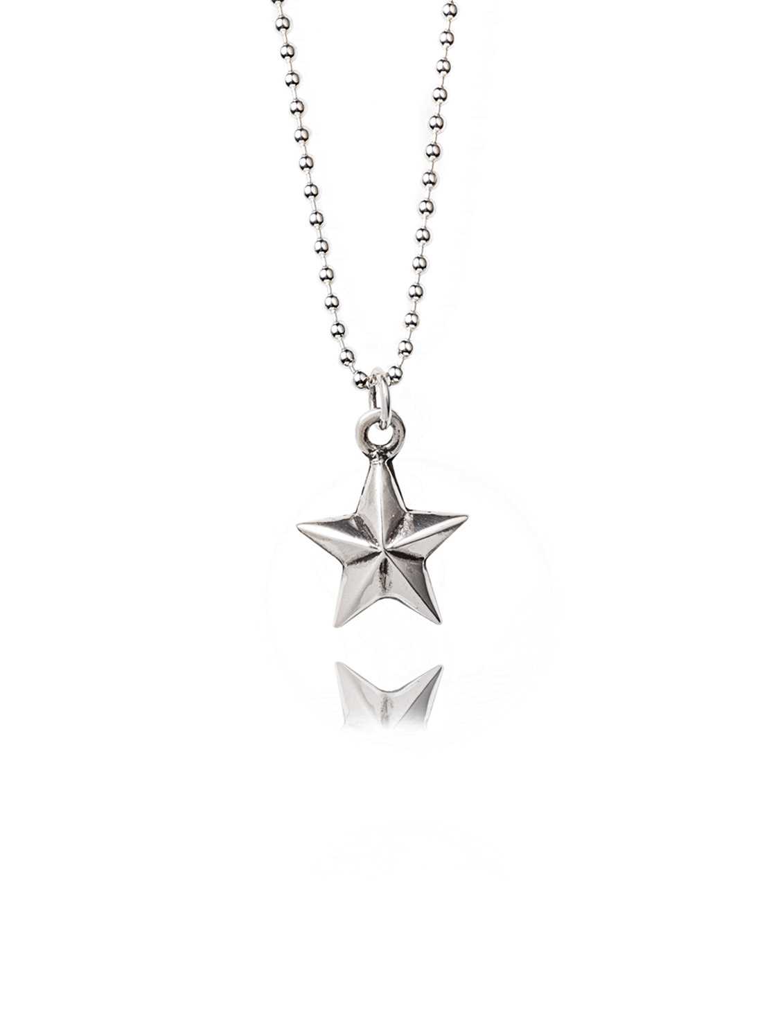 Small Silver Star Necklace