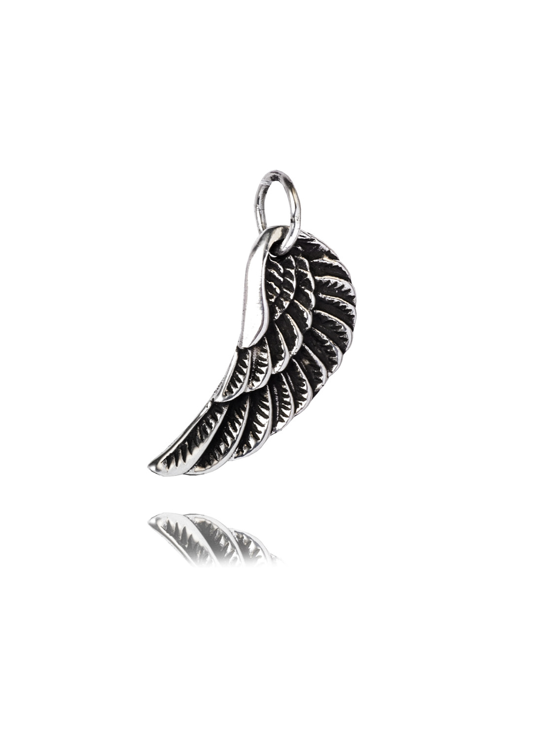 Small Silver Wing Charm
