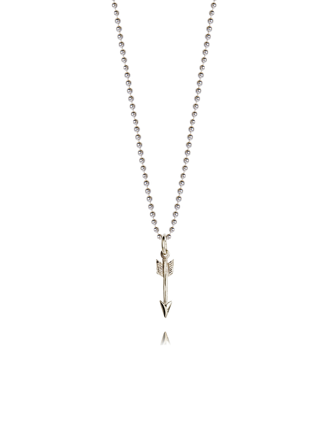 Tiny Silver Arrow On 45cm Chain