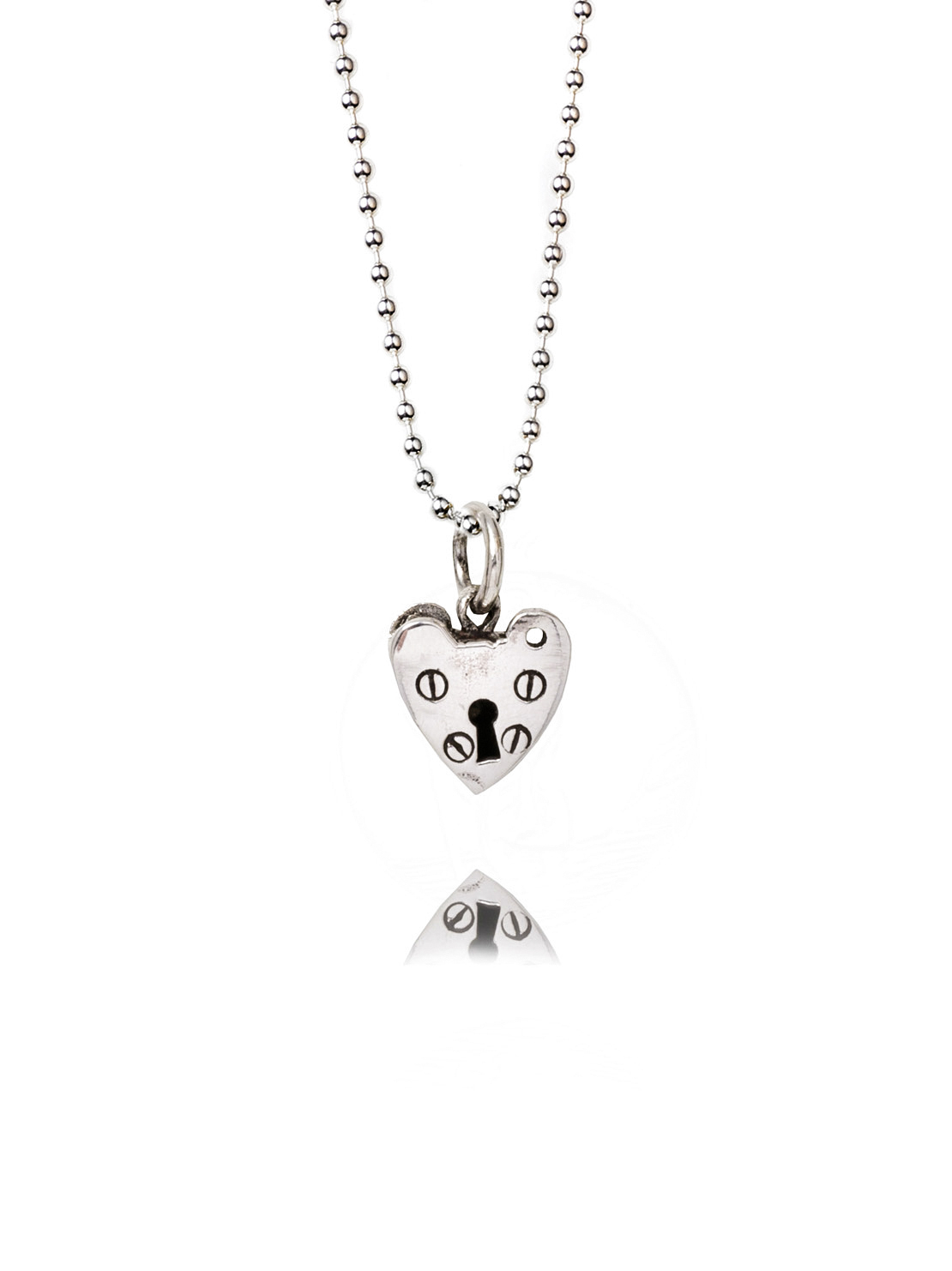 Tiny Silver Heart Necklace