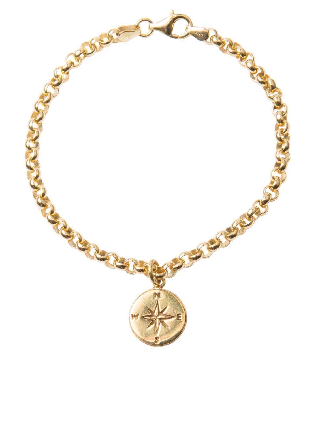 Gold Compass Bracelet