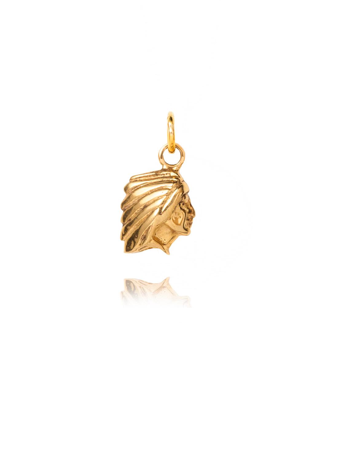 Gold Native American Charm