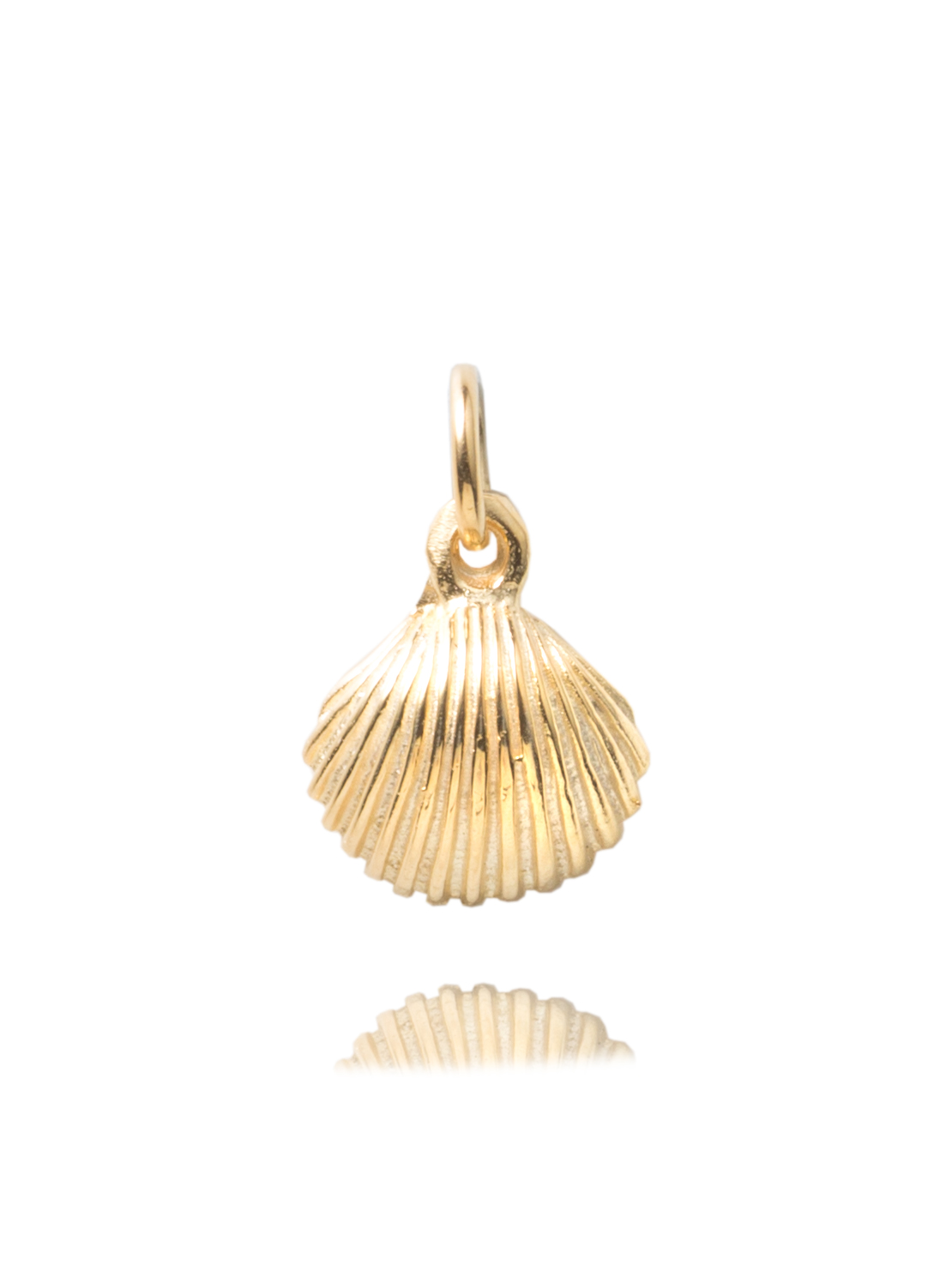 Gold Scallop Shell Charm