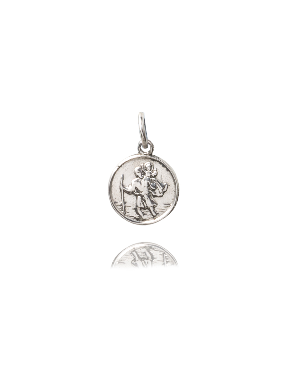 Small Silver St Christopher Charm
