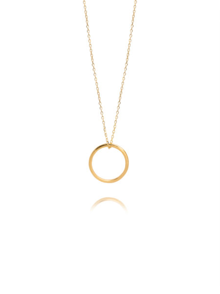 Fine Gold Eternity Ring On Trace Chain