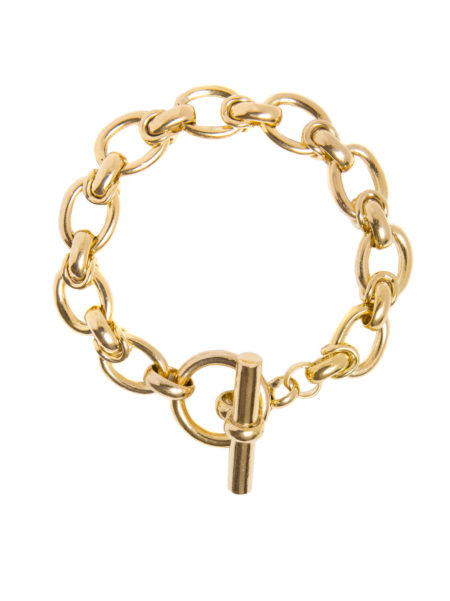 Medium Gold Interlock Linked Bracelet