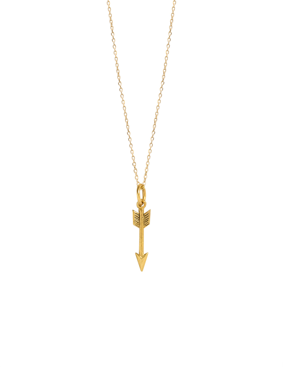 Tiny Gold Arrow On Trace Chain