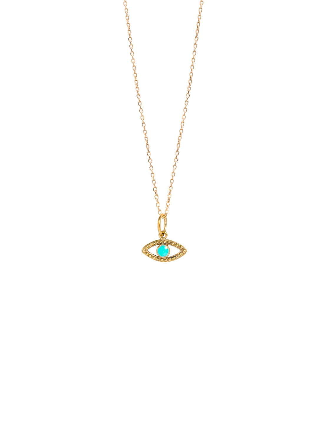 Tiny Gold Evil Eye On Trace Chain
