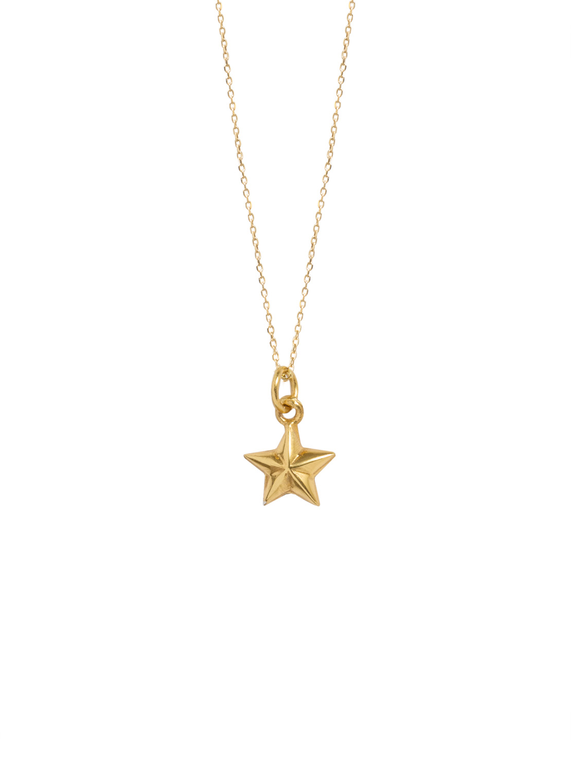 Tiny Gold Star On Trace Chain