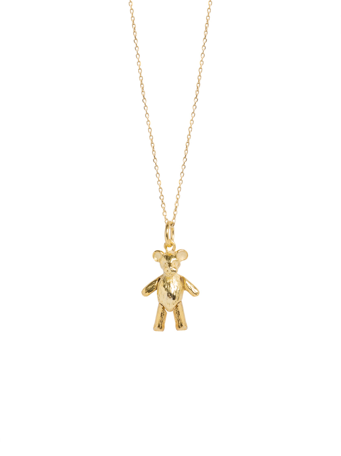 Gold Teddy Bear On Trace Chain