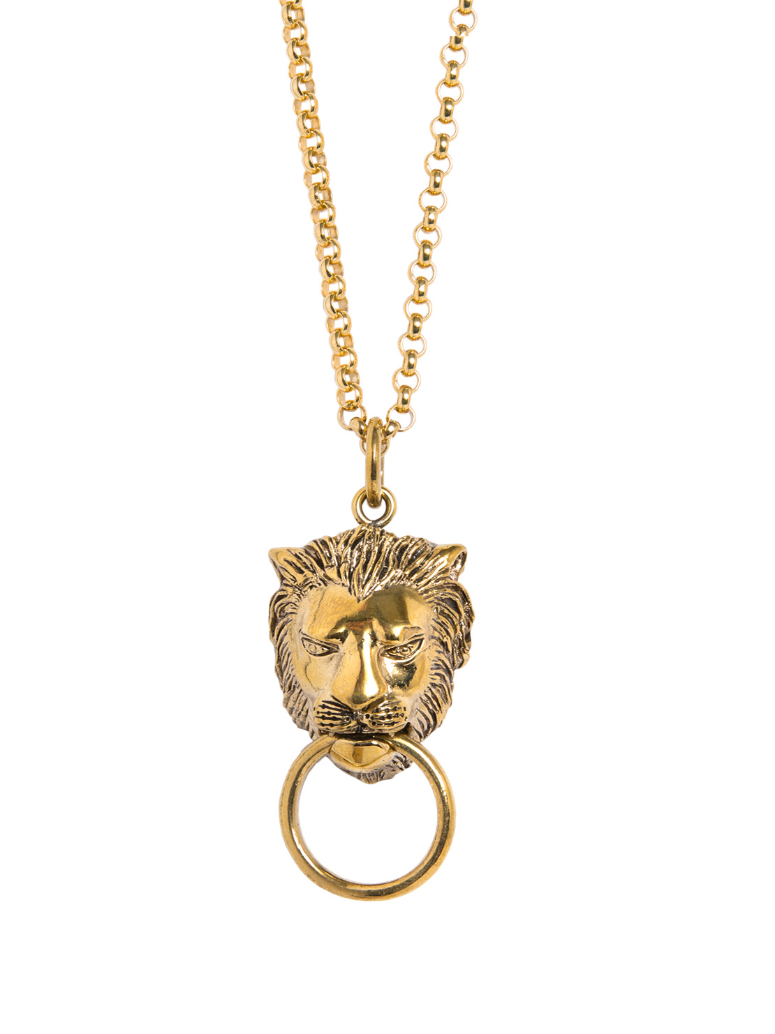 Gold Lion Necklace