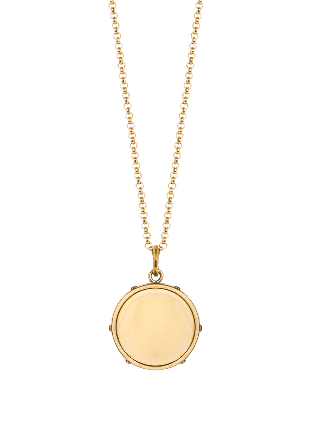 Large Gold Disc On Belcher Chain