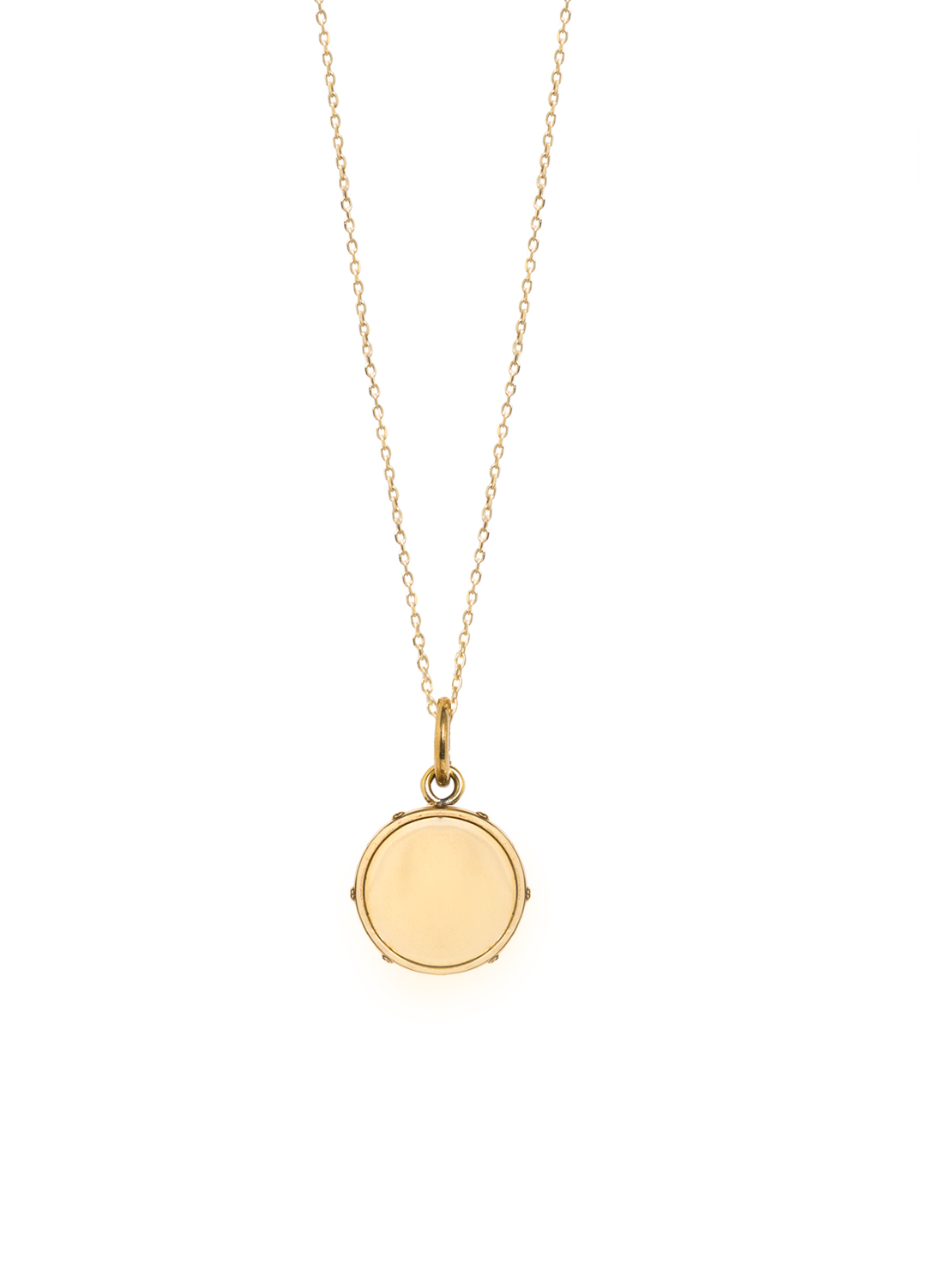 Small Gold Disc On Trace Chain