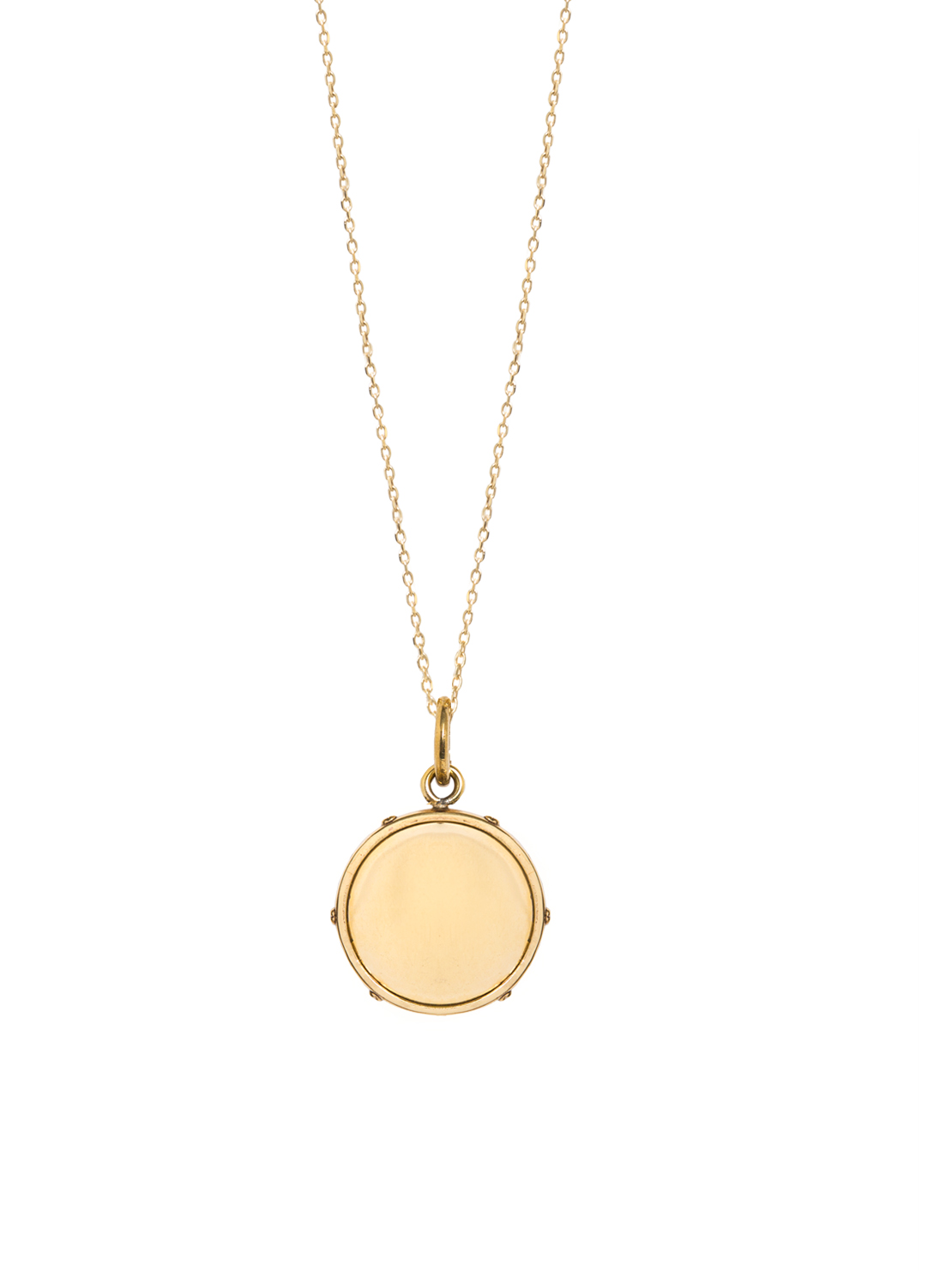 Medium Gold Disc On Trace Chain