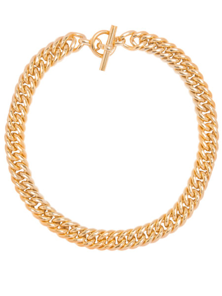 Large Gold Curb Chain Necklace
