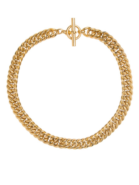 Small Gold Curb Chain Necklace