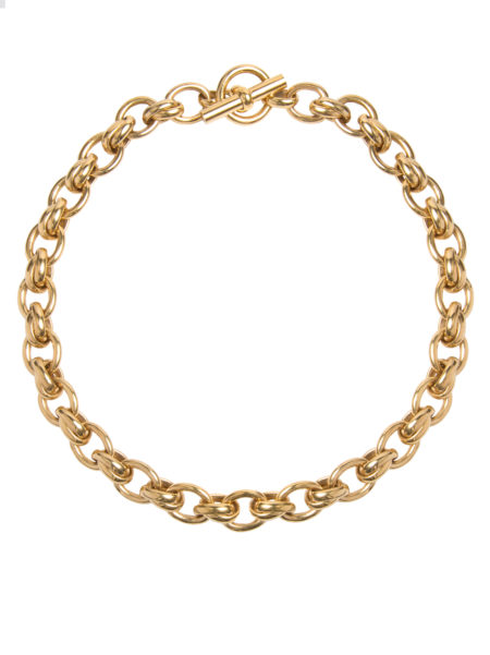 Small Gold Double Linked Necklace