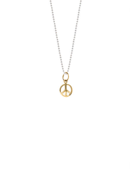 Brass Peace Sign Necklace
