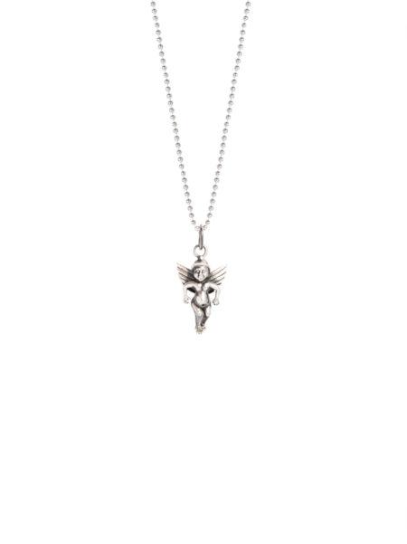 Silver Cherub Necklace