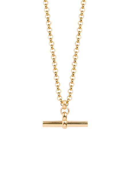 Medium Gold T-Bar On Chunky Belcher Chain