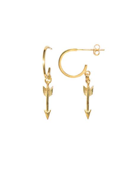 Gold Arrow Earrings