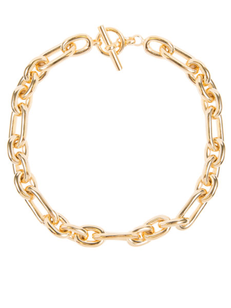 Medium Gold Triple Link Necklace