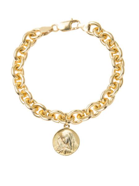 Religious Medal Charm Bracelet