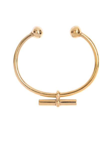 Gold Torque T-Bar Bangle